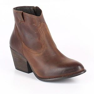 Altar'd State Brown Leather Heeled Boots/Booties